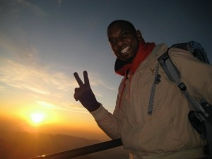 Jabari Smith Climbing Mt. Fuji