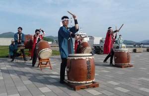 David's last performance with the Tomie- Wako Taiko Team - welcoming Fujimaru Cruiseship at the Port