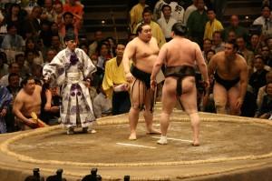 Asashoryu and Hakuho