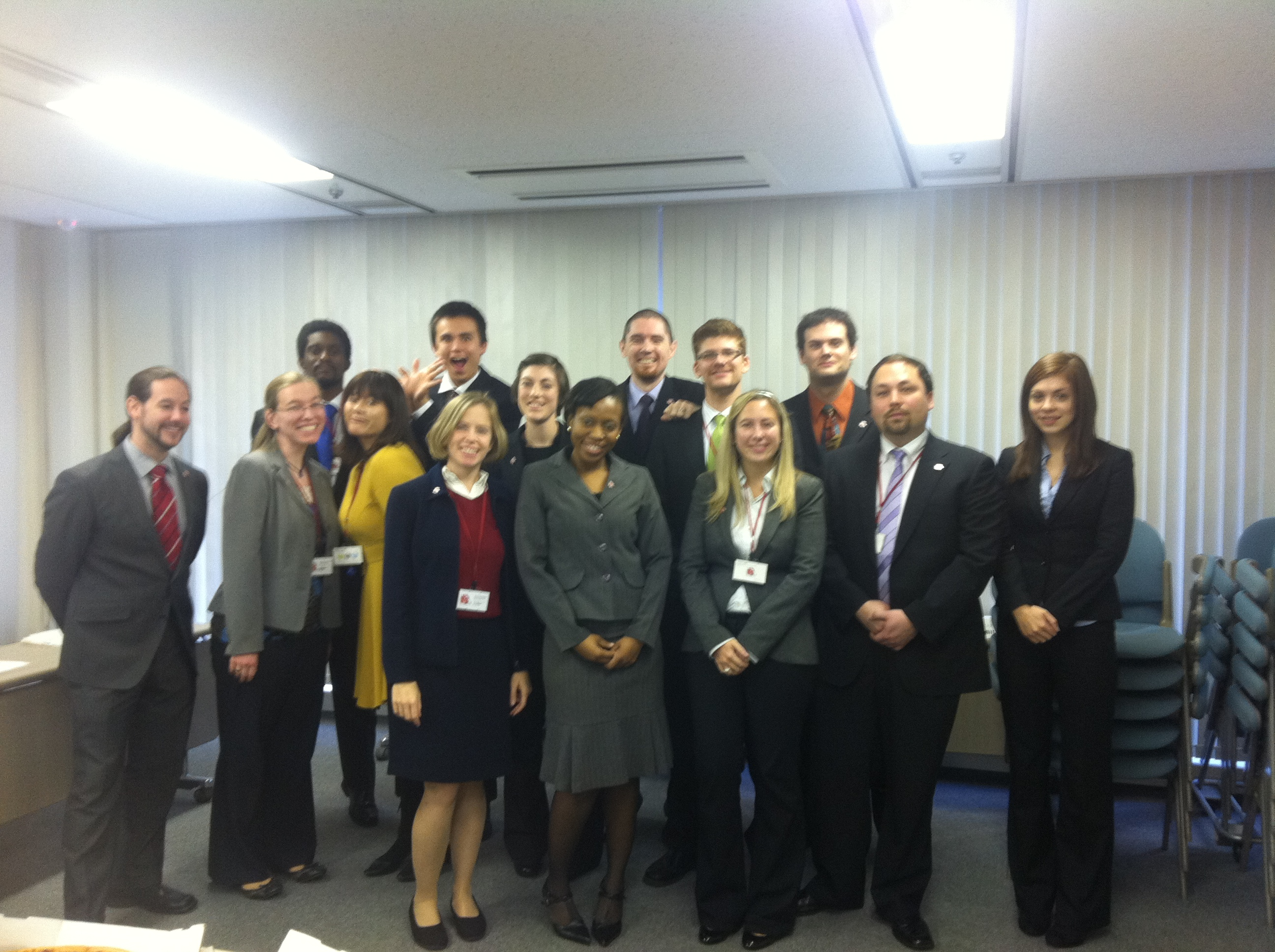 The AJET team at the Winter 2011 Opinion Exchange