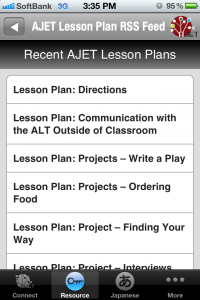 RSS of AJET Lesson Plans