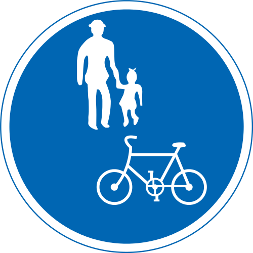 Bicycles & Pedestrians Permitted