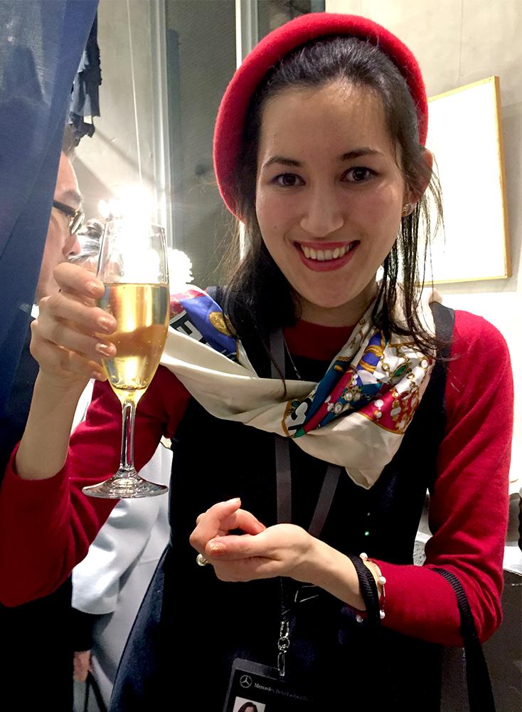 Erica and champagne (haori de TiTI)