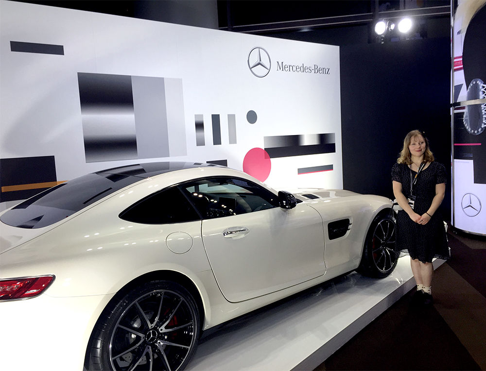Verity and Mercedes Car