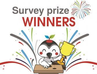 Winter 2016 Survey – Gift Card Winners