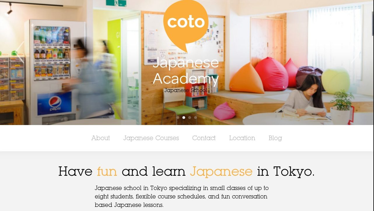Coto Japanese Academy's Website