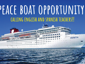 Peace Boat Opportunity!